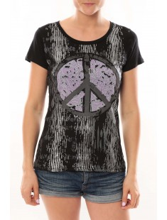 T-Shirt Peace And Love Noir