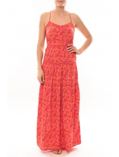 Maxi Dress Paisilla Mace S/L 101077004 Corail - vetement femme