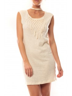 Mini Dress Starlight SL 10107349 Beige - vetement femme