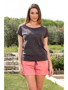 Top Capy SL Wide 10108569 Marron - vetement femme