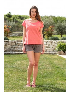Top Capy SL Wide 10108569 Rose - vetement femme
