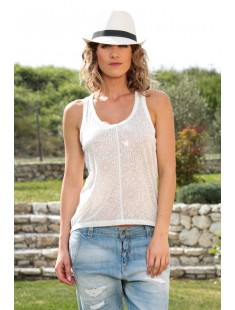 Top Burn Marack Tank 10110513 Blanc - vetement femme