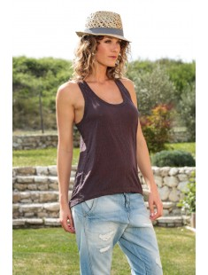 Top Burn Marack Tank 10110513 Marron - vetement femme
