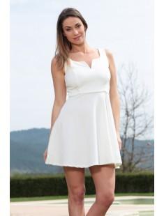 Robe allyson R1165-6 Blanc - vetement femme