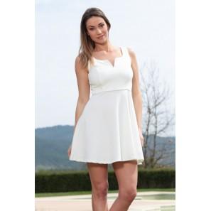 Robe allyson R1165-6 Blanc