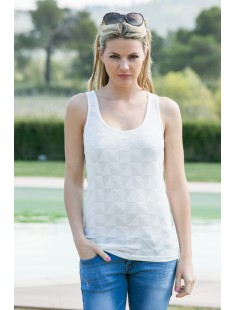 Top Fast Egypt Tank It 10112494 Blanc - vetement femme