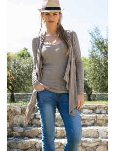 Cardigan Fast Egypt L/S Drapy It 10112493 Taupe