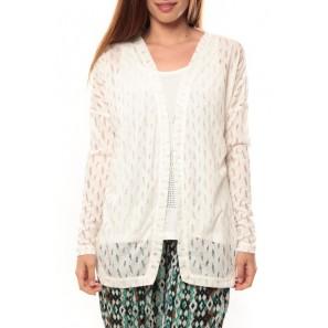 Cardigan Coon LS 10111383 Blanc