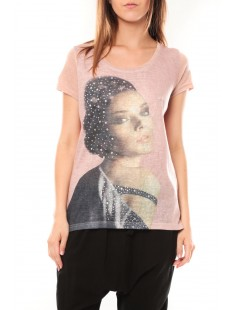 Tee shirt Y-0008 Rose poudre