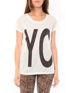 Tee shirt SL1511 Blanc - vetement femme