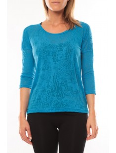 Top It Fiona 3/4 10108869 Bleu - vetement femme
