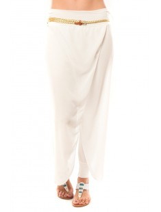 Pantalon O.D Fashion Blanc - vetement femme