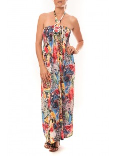 Robe Sylvia F587 Rose - 1 acheté = 1 offert