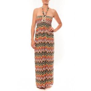 Robe Sylvia F594 Orange - 1 acheté = 1 offert