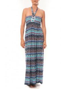 Robe Sylvia  F586 Bleu - 1 acheté = 1 offert