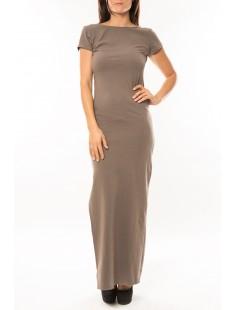 Robe longue Fashion Beige - vetement femme