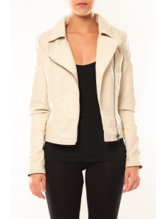 Jacket-Boos Melody Short PU 10111730 Beige - vetement femme