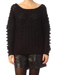 LS O-Neck Carrara Rep 1 10119638 Noir - vetement femme