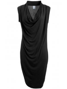 Short Dress It Dina Drapy S/L Noir - vetement femme