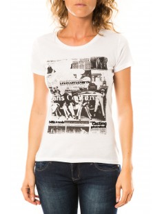 T-shirt Mag Blanc - vetement femme