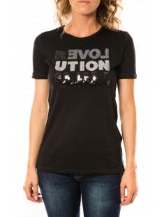 T-shirt Sequy Noir - vetement femme