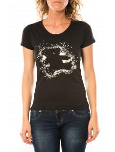 T-shirt Troupe Noir - vetement femme