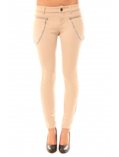 Pantalon Twin Two P8261 Beige - vetement femme