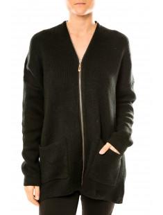 Robe Pull Lely Wood L586 Noir - vetement femme