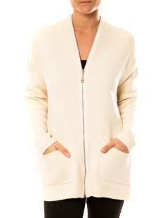 Robe Pull Lely Wood L586 Blanc - vetement femme