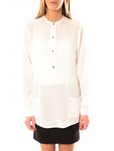 Tunic Alec L/S W/Out Top Pockets 10097849 Blanc