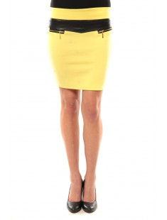 Jupe J.X Fashion Jaune - vetement femme