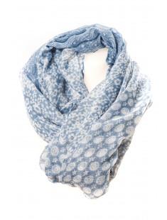 Chèche Fleurie DN6819 Bleu