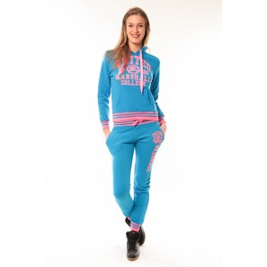 Ensemble Jogging United Marshall College Bleu/Rose