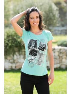 T-Shirt NAD Photo Vert d'eau