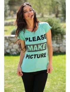 T-Shirt NAD Please Vert d'eau
