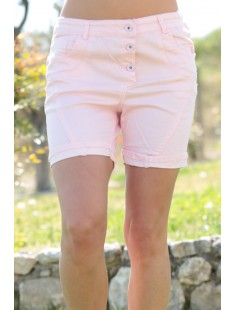 Short Hello Miss A094-5 Rose - vetement femme