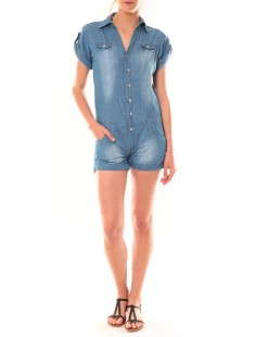 combinaison short F259 Denim