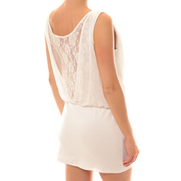 robe 157 blanc vetement femme dressingdiscount. Black Bedroom Furniture Sets. Home Design Ideas
