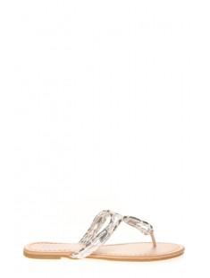 Sandales Isabelle Blanc/Argent