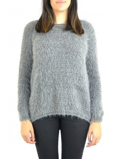Pull Effet Noix Coco Anthracite