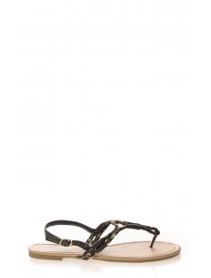 Sandales Queen  Entredoigt fleurie Noir