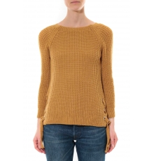 Pull Lacets Moutarde