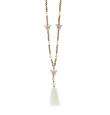 Collier sautoir Fashion Jewelry Blanc