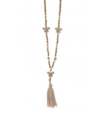 Collier sautoir Fashion Jewelry Marron
