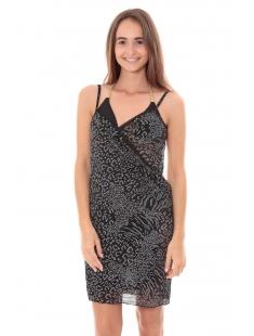 Robe Pareo de plage Leopard  Noir