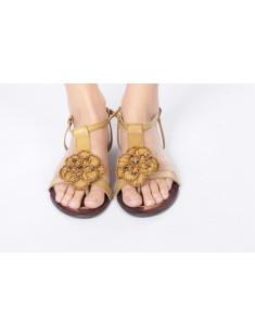 Sandales Fleur caramel