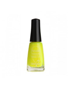 vernis à ongles fluo jaune fluo - maquillage femme