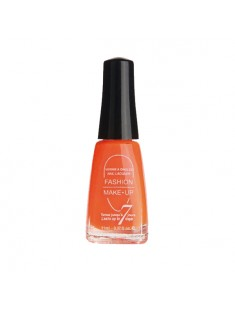 vernis à ongles fluo orange - maquillage femme