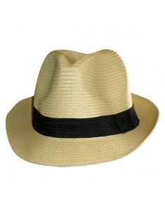 Chapeau de paille Havane beige
