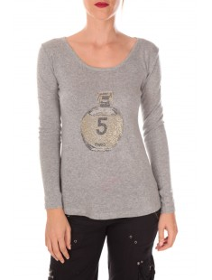 pull five col rond 1036 Gris